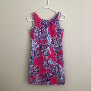 Lilly Pulitzer Callie Shift Dress Coral Print
